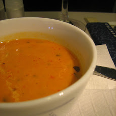 Spicy Red Pepper Tomato Soup With Greek Yogurt