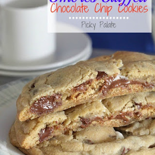 S'mores Stuffed Chocolate Chip Cookies