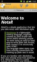 Screenshot of Notal