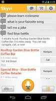 Screenshot of Skyvi (Siri for Android)