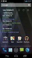 Screenshot of Pure Calendar widget (agenda)