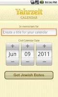 Screenshot of Yahrzeit