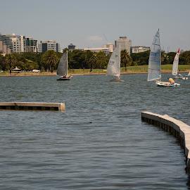 Sail Through by Nimit Rastogi - City,  Street & Park  Amusement Parks ( boating, sailing, boats, lake, sailboat )
