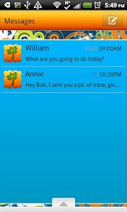 GO SMS THEME/SweetSummerTime - screenshot