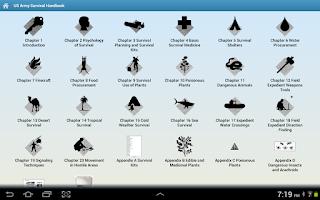 Screenshot of Survival Handbook