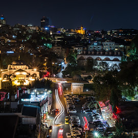 by Phil Milmine - City,  Street & Park  Night
