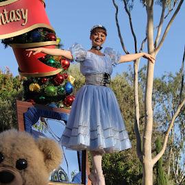 Disneyland Parade by Joel Ortiz - City,  Street & Park  Amusement Parks ( fantasy, parade, disneyland, smile, ballerina )