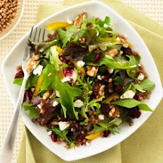 All-Bran Mesclun Mix with Cranberries and Walnuts