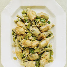 Stewed Baby Artichokes with Fava Beans