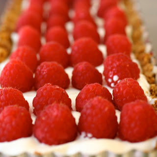 Raspberry Lime Yogurt Tart