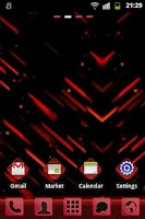 Screenshot of GO Launcher EX Theme Red Futur