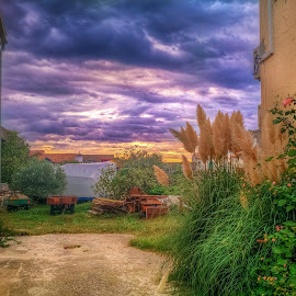 Kod Ranjikovih by Branko Meic-Sidic - City,  Street & Park  Neighborhoods ( yard, hdr, croatia, neighbourhood, pirovac )