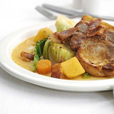 Irish Coddled Pork With Cider