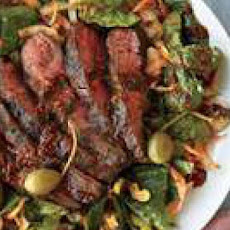 Sliced Steak Salad with Bloody Mary Vinaigrette