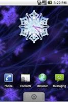 Screenshot of Christmas Snow Clock