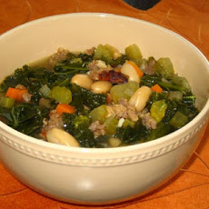 Mediterranean Kale & White Bean Soup With Sausage