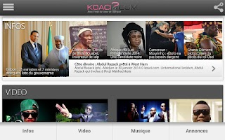 Screenshot of Koaci.com
