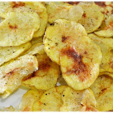 Fried Potato Slices Prepared in the Microwave