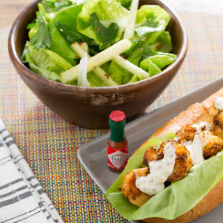 Shrimp Po' Boy Sandwiches with Butter Lettuce and Apple Salad
