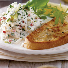Chilli And Lime Crab Salad With Ciabatta Toasts