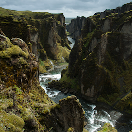 beautiful Iceland... by Anneke Reiss - Landscapes Mountains & Hills ( water, iceland, gorge, green, island, river )