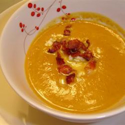 Spiced Bacon And Pumpkin Soup