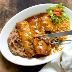 Beef Enchiladas With Chipotle-pasilla Chili Gravy