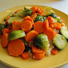 Citrus Carrots and Brussels Sprouts