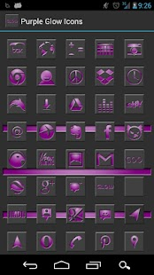 Purple Glow Icon Theme - screenshot