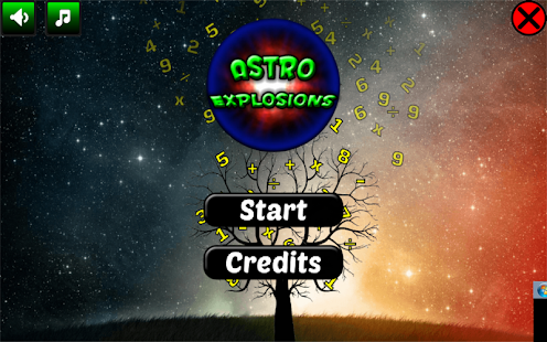Astro Explosions Brain trainer - screenshot