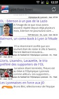 Screenshot of Lyon Foot News