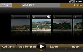 Screenshot of Multimedia Slides Creator