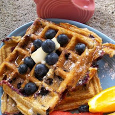 Blueberry Buttermilk Waffles