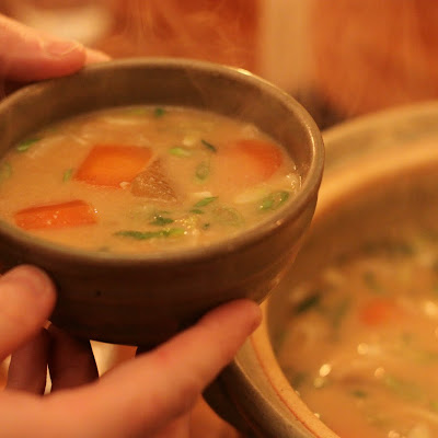 Tonjiru Soup – Hearty Japanese Miso Soup with Pork Belly and Root Vegetables