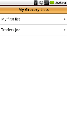 Voice Grocery Shopping List - screenshot