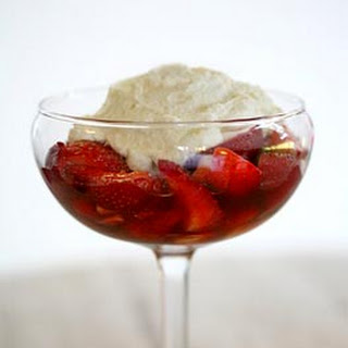 Ricotta-Mascarpone Mousse with Balsamic Strawberries
