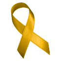 Yellow Awareness Ribbon Clock icon