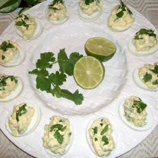Mexican Slowboats (Deviled Eggs)