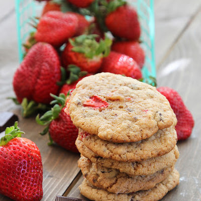 Chocolate Chip Strawberry Cookies