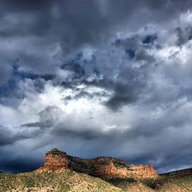 Storm Clouds Over the Desert by Matt Dittsworth - Landscapes Cloud Formations ( sky, desert, dark, cloud, storm, rain )