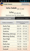 Screenshot of Salah Aware: Prayer Times