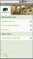 Screenshot of Kölner Zoo