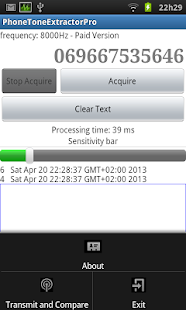 DTMF Tone Extractor Pro - screenshot