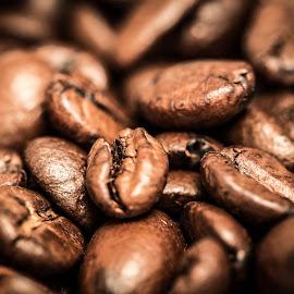 Coffee Beans by Fares Ghneim - Food & Drink Ingredients ( macro, espresso, beans, drink, coffee, java, close-up )