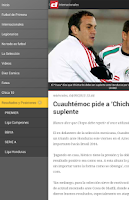 Screenshot of Diario Diez Honduras