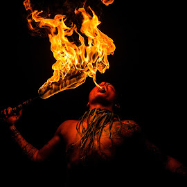 Fire Spirit by Richard Beckmann - People Body Art/Tattoos