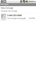 Screenshot of FakeSMS
