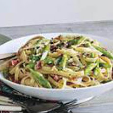Asparagus, Ham and Egg Pasta