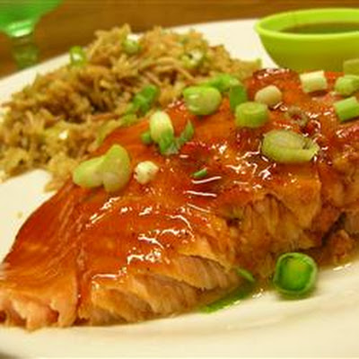 Pepper-Honey Cedar Plank Salmon