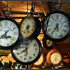 Old clocks by Prasanta Das - Artistic Objects Antiques ( old, display, clocks )